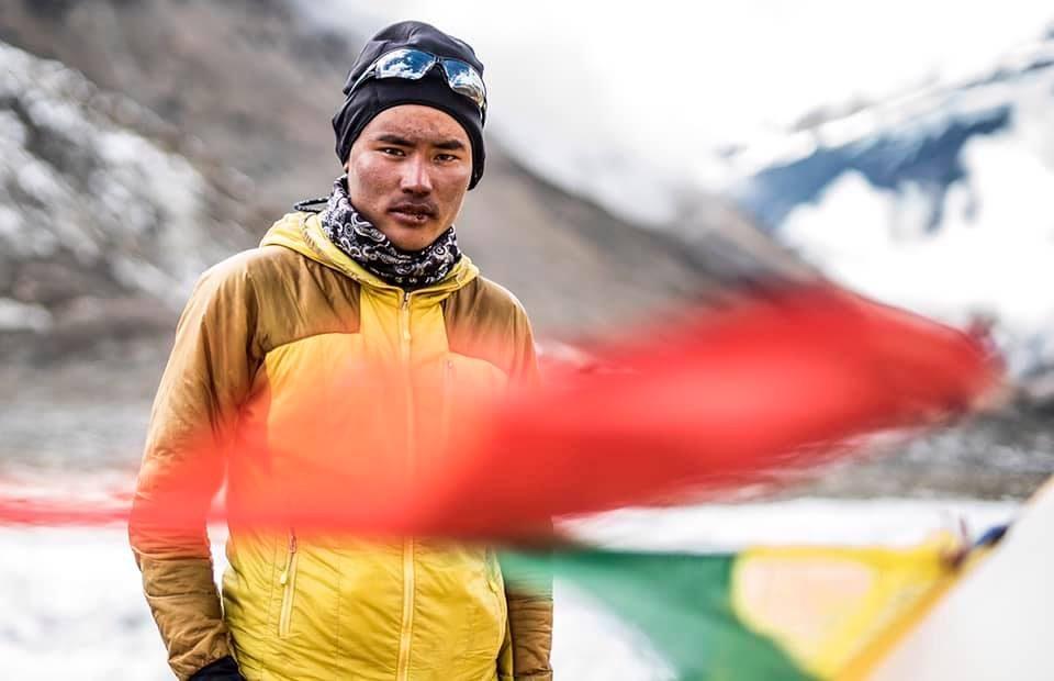 Furtengi Sherpa miembro del equipo sherpas de la expedición de Carlos Soria al Dhaulagiri (otoño 2019).