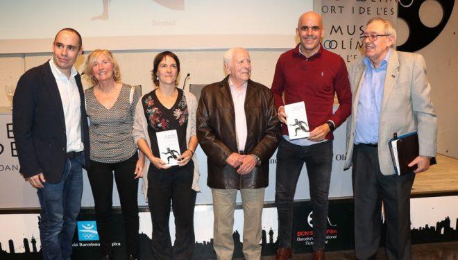 Miguel Calvo, Carmen Valero, Pati Blasco, Miguel Navarro, Reyes Estévez y JM Surroca en la presentación del libro Regresar a Maratón