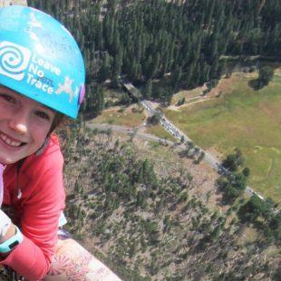 Pearl Johnson (9 años) en El Capitan