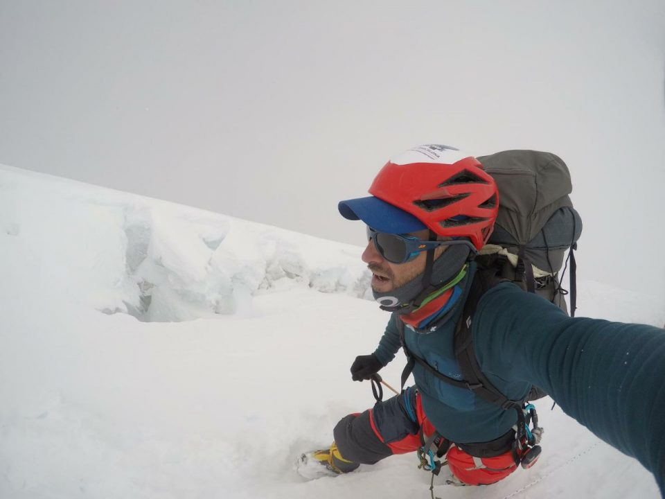 Sergi Mingote en ruta a la cima del Dhaulagiri (3 octubre 2019).