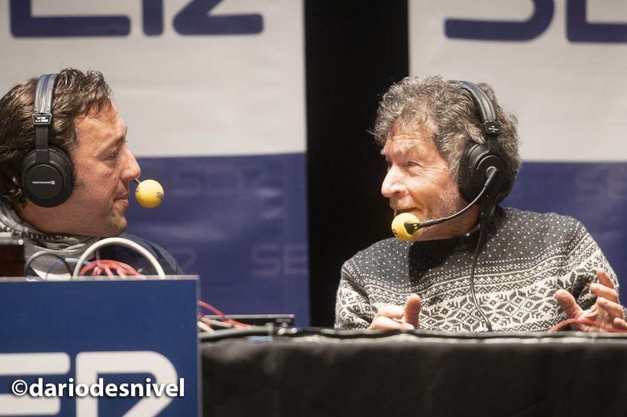 José Antonio Ponsetti y Carlos Soria en el programa Ser Aventureros que se ha grabado en las Jornadas Montaña de Moralzarzal 2019.