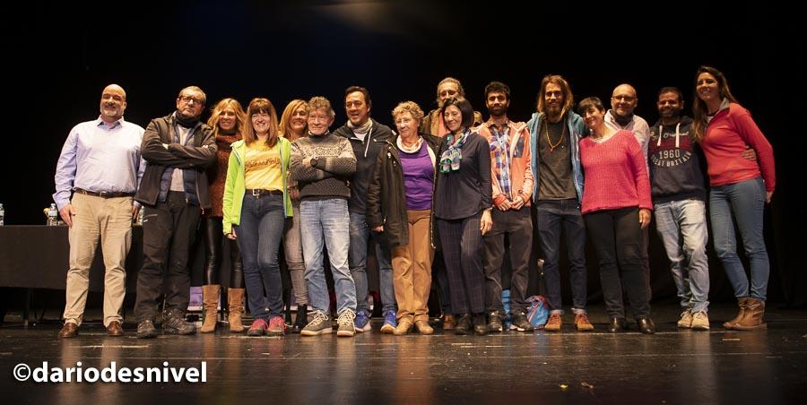 Organización y conferenciantes Jornadas de Montaña de Moralzarzal 2019.