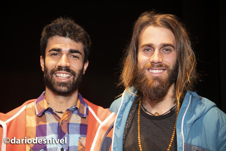 Los hermanos Pantoja (Alberto y Álvaro) en las Jornadas Montaña de Moralzarzal 2019.