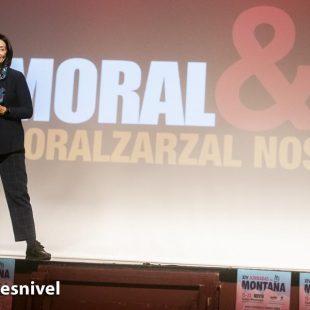 Rosa Fernández en su conferencia en las Jornadas Montaña de Moralzarzal 2019.