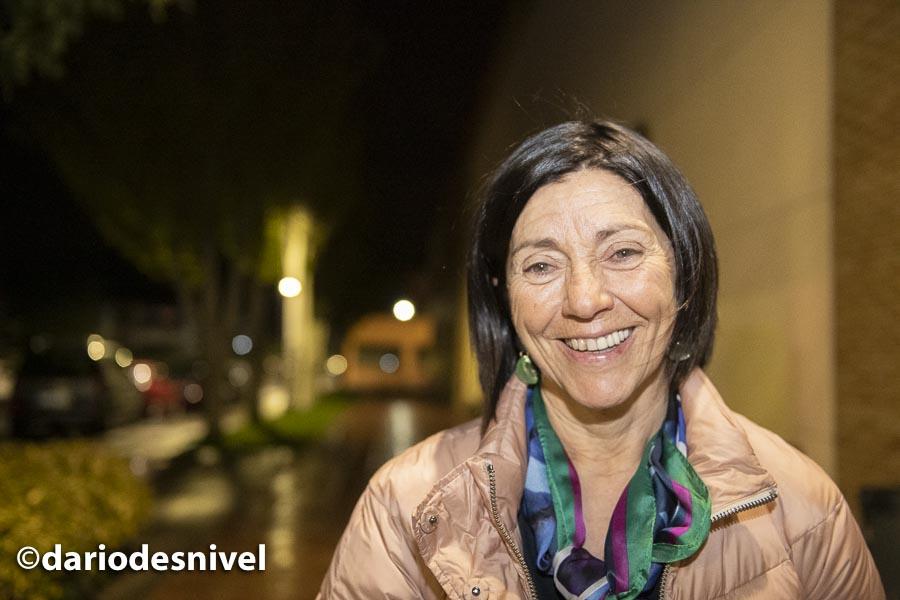 Rosa Fernández al terminar su conferencia en las Jornadas Montaña de Moralzarzal 2019.