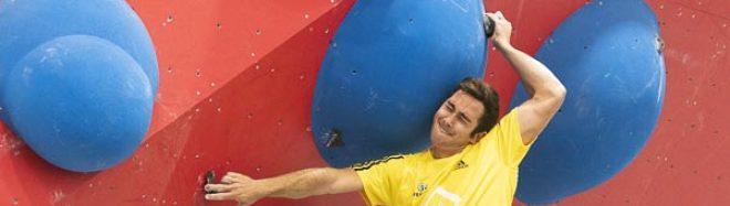 Pau Galofre en la tercera prueba de la Copa de España de Escalada de Dificultad 2019 celebrado en Climbat X-Madrid. Quedó segundo en esta prueba y quinto en la general de la Copa de España de Escalada de Dificultad 2019.