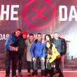 Parte del equipo de X-Madrid Climbat en la inauguración