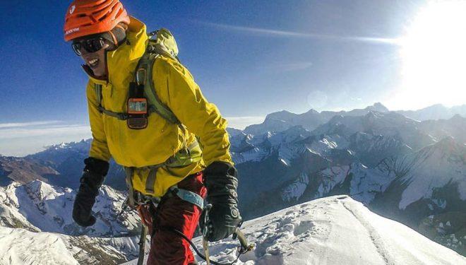 Jost Kobusch durante su preparación para el Everest invernal