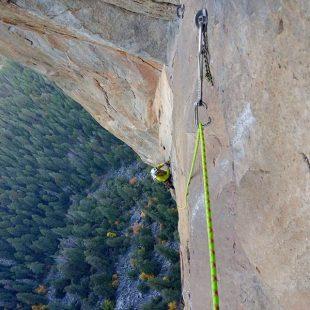 Pete Whittaker en Westface Leaning Tower, Yosemite