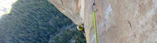 Pete Whittaker en Westface Leaning Tower, Yosemite