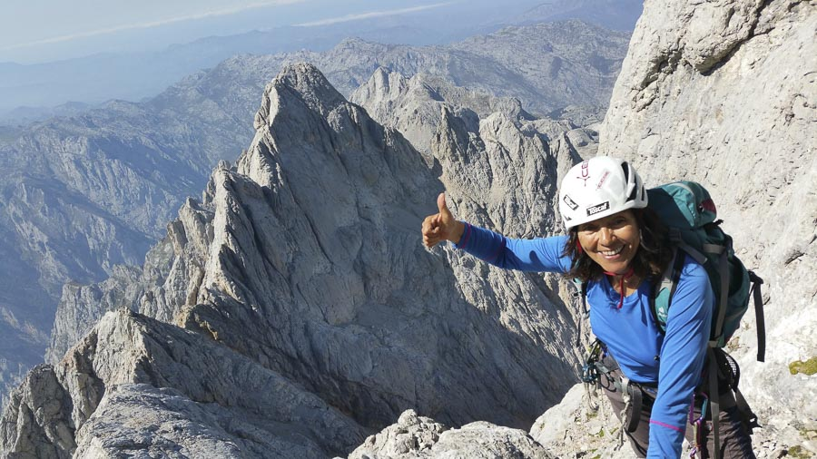 La alpinista asturiana Rosa Fernández.