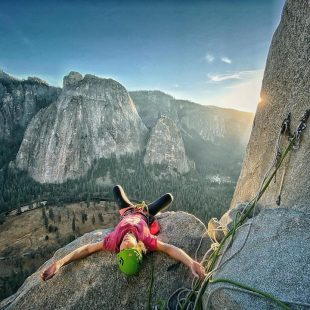 Barbara Zangerl en 'The Nose' (El Capitan, Yosemite)