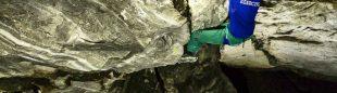 Filip Babicz, en 'Ade integrale' D15+ en la cueva Gran Borna