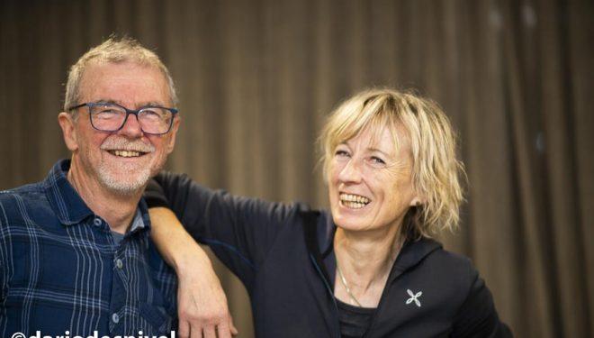 Nives Meroi y Romano Benet en Bilbao Mendi Film 2019 donde recibieron el premio WOP.