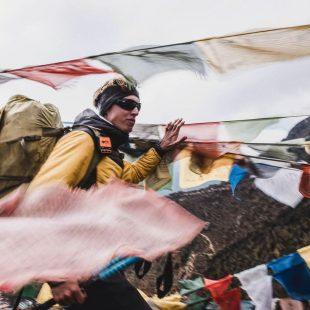 Jost Kobusch en la aproximación al CB del Everest