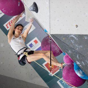 Mia Krampl en la prueba preolímpica de Tolouse, nov 2019