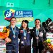 Podio femenino prueba preolímpica Toulouse nov 2019