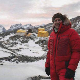 Jostko Busch en invierno en el CB del Everest