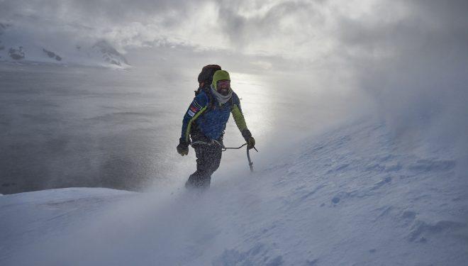 Álex Txikon en la Antártida