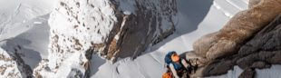Nicolas Hojac y Stephan Siegrist en el Cerro Cachet (Patagonia de Chile)
