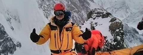 John Snorri en el C1 del K2 invernal