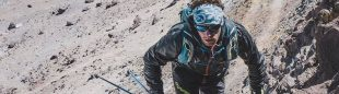 Martin Zhor en su reto en el Aconcagua en diciembre de 2019