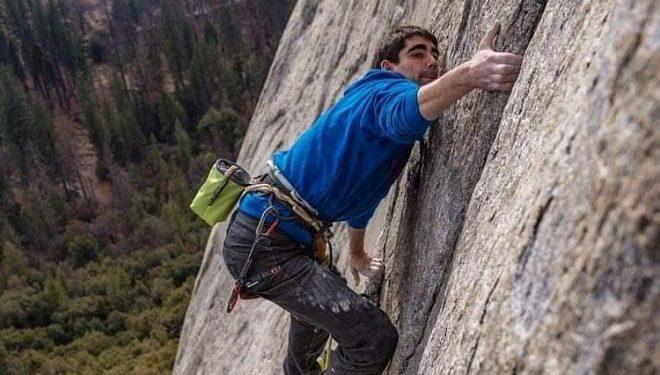 Ignacio Mulero en el 'Dawn Wall' de Yosemite