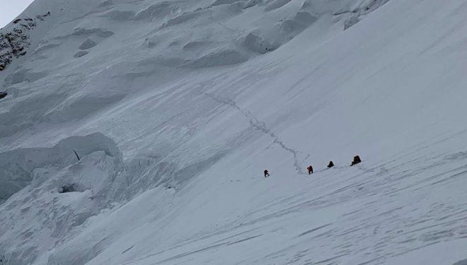 Ruta de ascensión de Nirmal Purja al Shisha Pangma