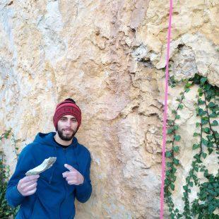 Jonatan Flor en el pie de 'Viaje Morfo' en Tárbena en enero de 2020