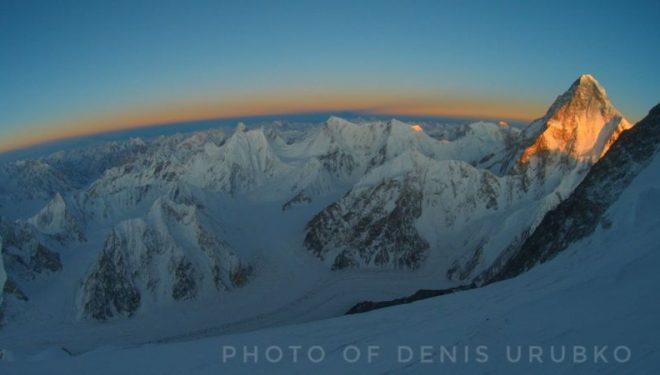 Vistas desde más de 7.000 m en el Broad Peak invernal
