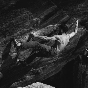 Jimmy Webb en 'Off the wagon low' 8C+, que encadenó en febrero de 2020