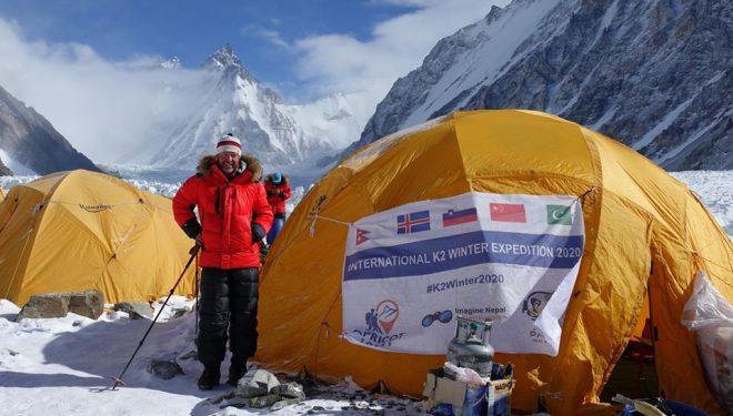 Tomaz Rotar, en la expedición internacional al K2 invernal 2020