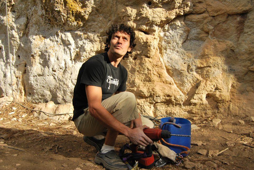 El escalador y equipador madrileño Rafa Fanega