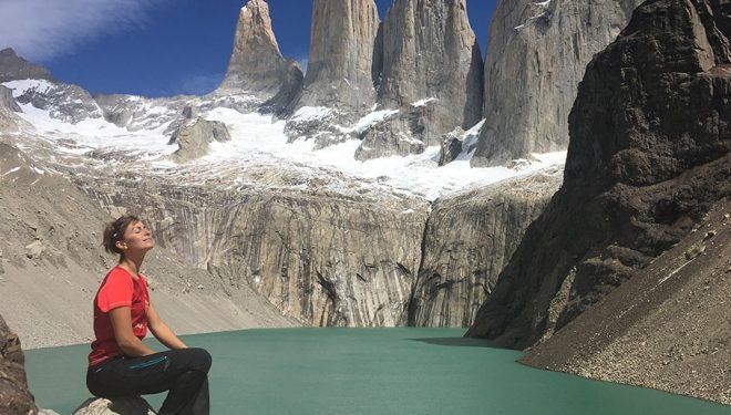 Fátima Gil en las Torres del Paine