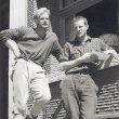 John Harlin II con Konrad Kirch en 1962después de escalar la ruta clásica a la norte del Eiger.