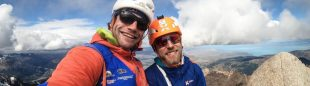 Jonas Schild y Roger Schaeli en Patagonía