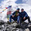 Michal Sabovcik y Peter Hamor a los pies del Dhaulagiri en 2017