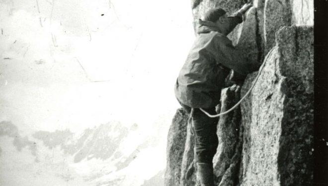Pierre Allain en los Alpes