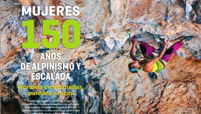 Desnivel 406. Artículo: Mujeres, 150 años de alpinismo y escalada.