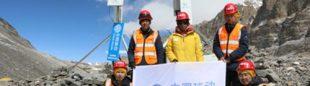Equipo de China Mobile en el Everest