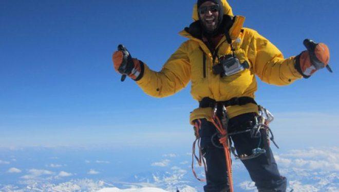 Juan García en el McKinley, 6194 m, junio 2011