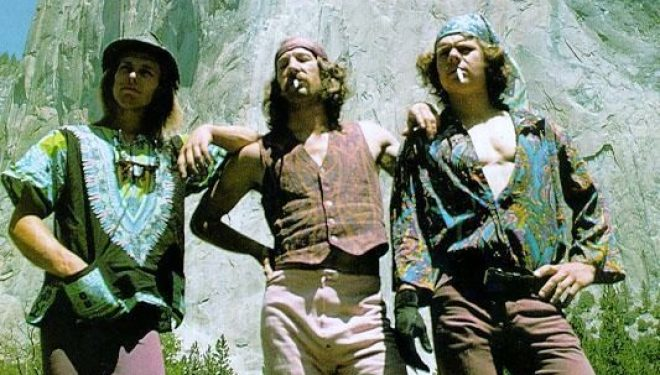 Billy westbay, Jim Bridwell y John Long tras escalar 'The nose' en 1975
