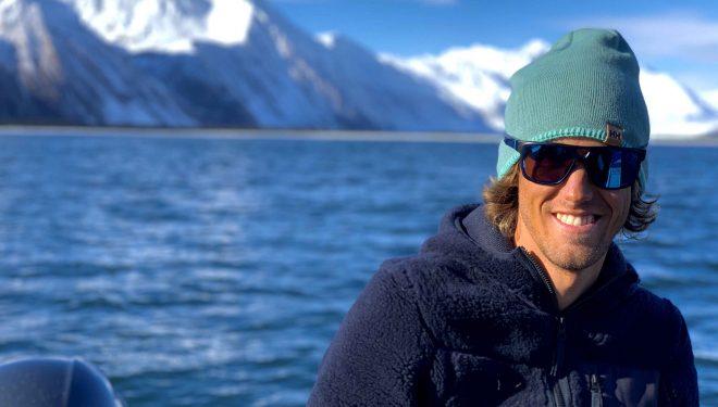 El aventurero asturiano Pepín Román en Alaska
