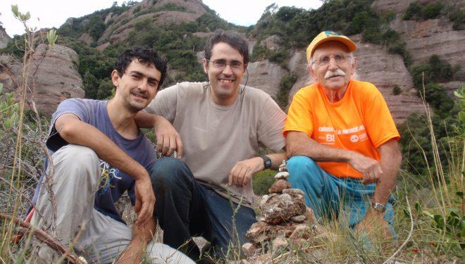 Josep María Torras en 2012 con los hermanos Albert i Òscar Masó Garcia (S.L.Munt)