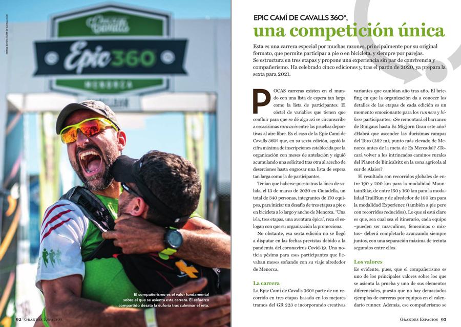 Grandes Espacios nº 264 Especial Menorca 360º ~ Camí de cavalls la carrera