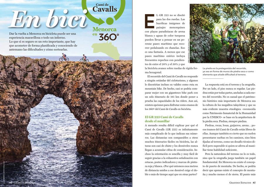 Grandes Espacios nº 264 Especial Menorca 360º ~ Camí de cavalls en bici
