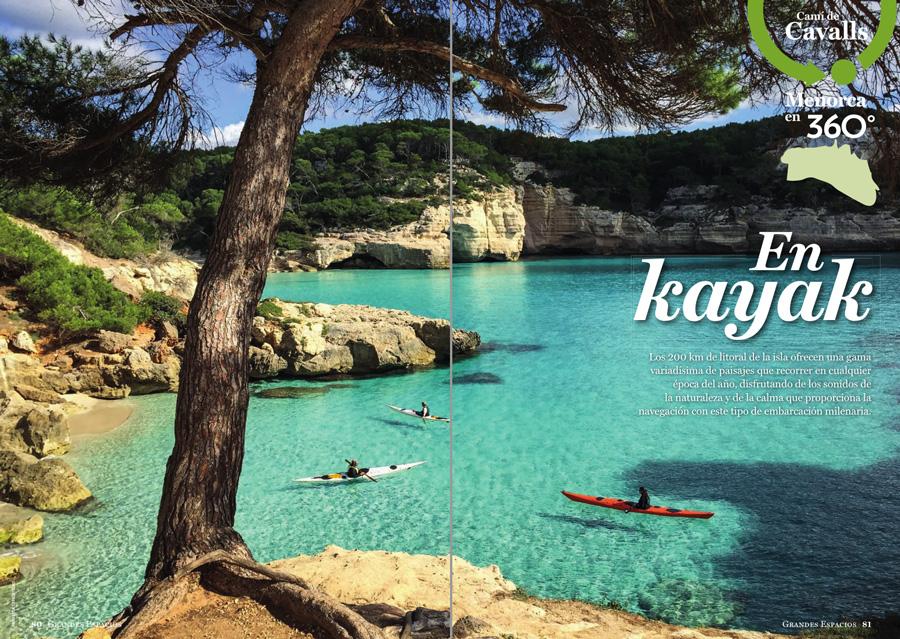 Grandes Espacios nº 264 Especial Menorca 360º ~ Camí de cavalls en kayak