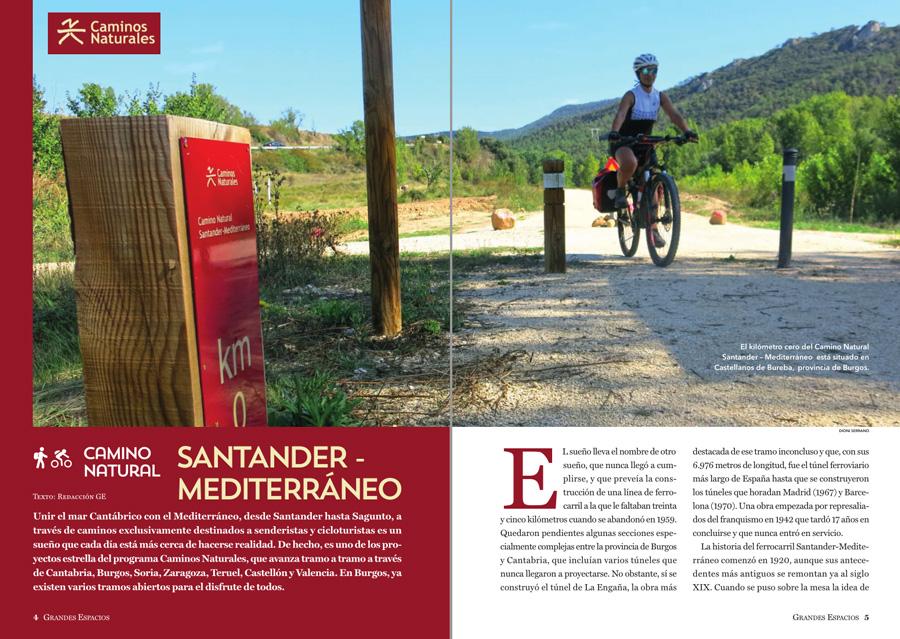 Grandes Espacios nº 264 Camino Natural Santander - Mediterráneo