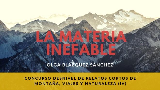 «La materia inefable» de Olga Blázquez