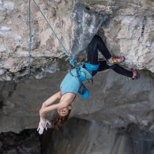 "Laura Rogora en ""Pure dreaming plus"" 9a."